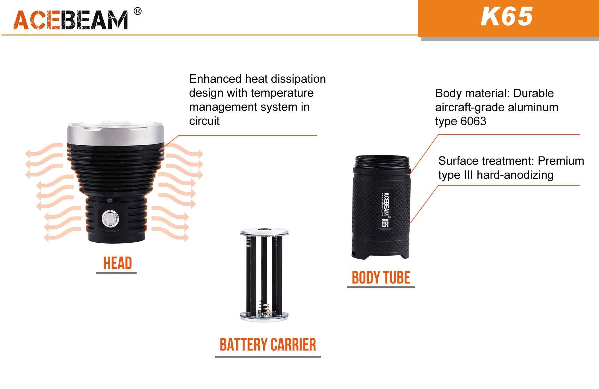 k65 batteries