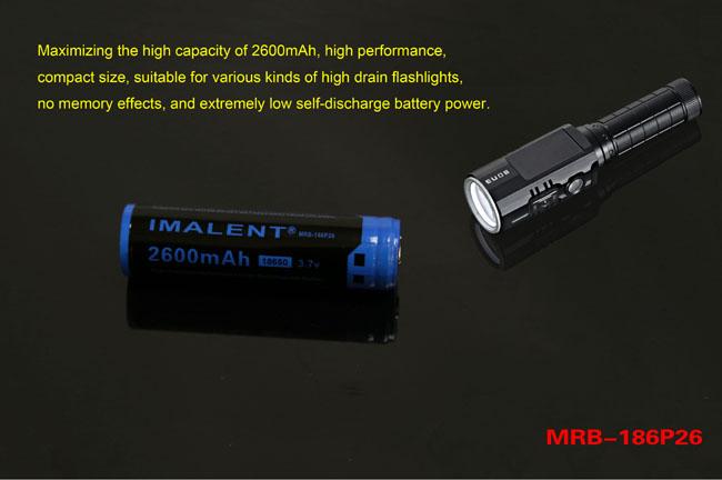 18650 dm21t bateria imalent recargable 2600ma