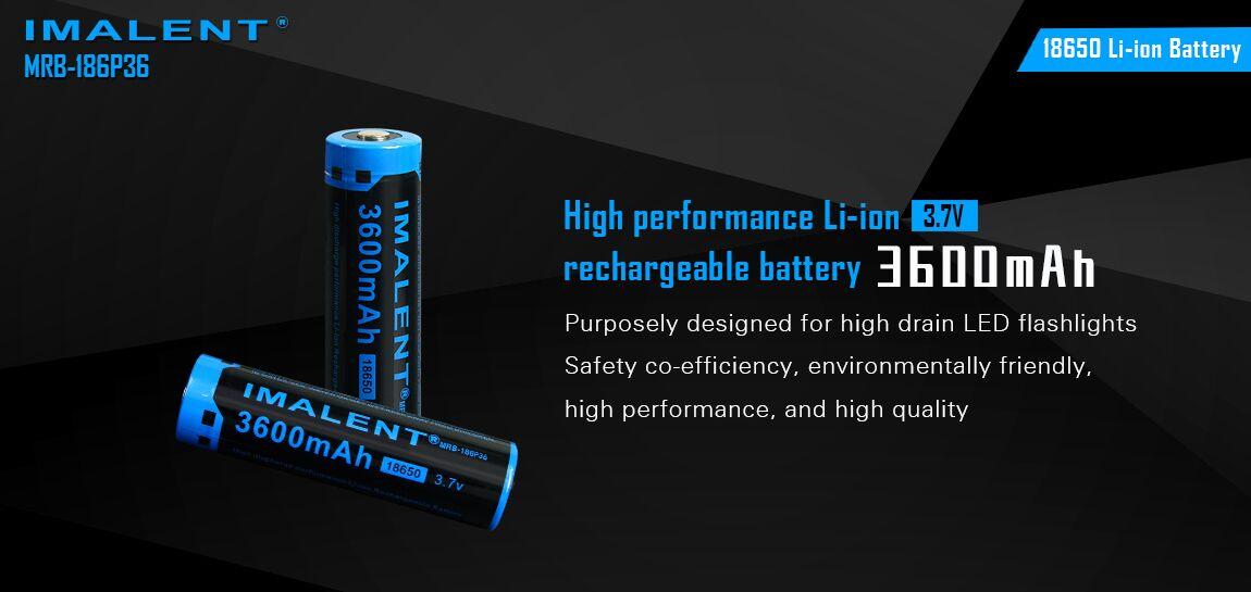 bateria litio recargable para linterna imalent