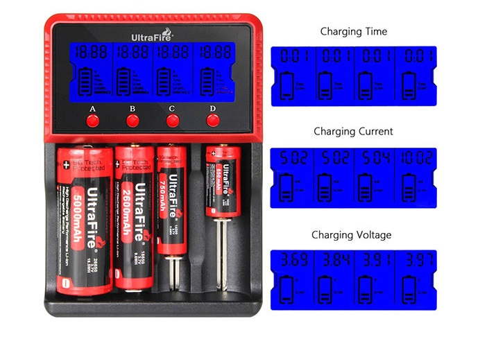 Ultrafire H4 Charger Battery Flashlight Plug
