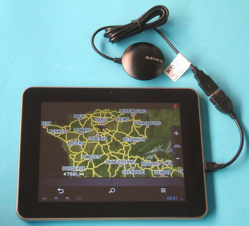 ▷ Installing an external USB GPS with Windows devices or