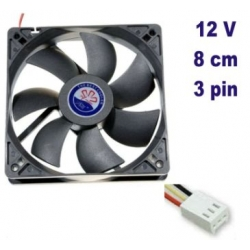 Fan cooler 12V 80mm PC Computer CPU Cooling Fan Case 3Pin 8cm