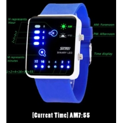 SKMEI 0890 led binary watch fashion Futuristic Japanese 3ATM