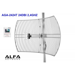 Alfa AGA-2424T 24 dBi 2.4 GHz outdoor grid antenna N-female dish