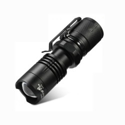 Mini LED Flashlight pocket tactical Zoom function SOS 550LM magnetic