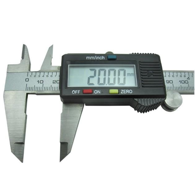 Calibre digital pie de rey acero inoxidable 0 01 150mm - Pilas de acero inoxidable ...