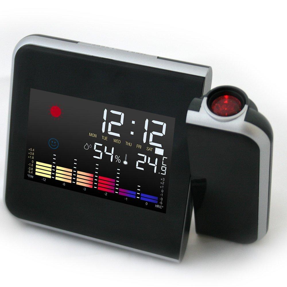 Reloj despertador con proyector led proyeccion pared - Estacion meteorologica precio ...