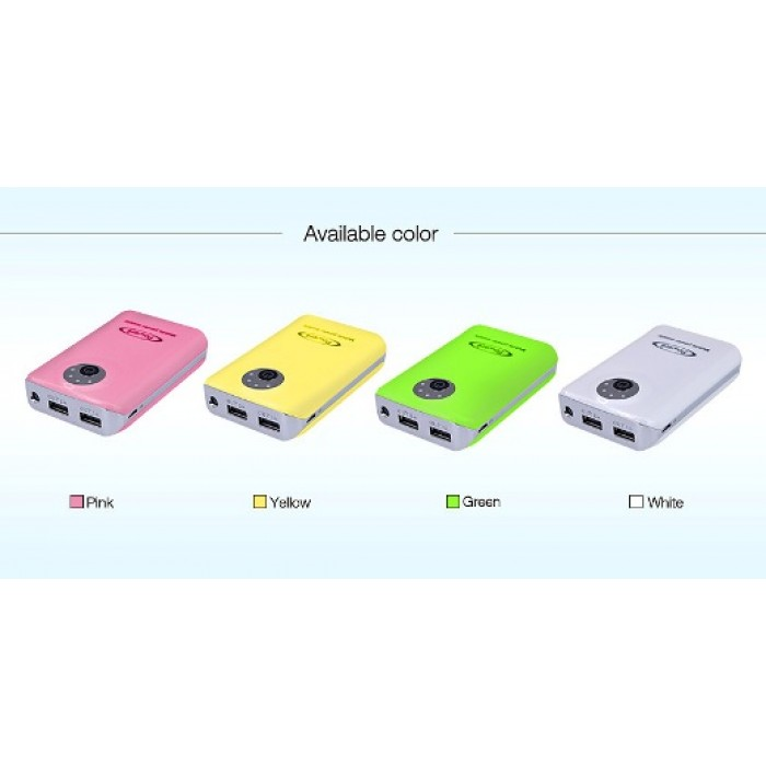 Power Bank Banco De Bater 237 A 2 Usb Dual 6600 Mah Led