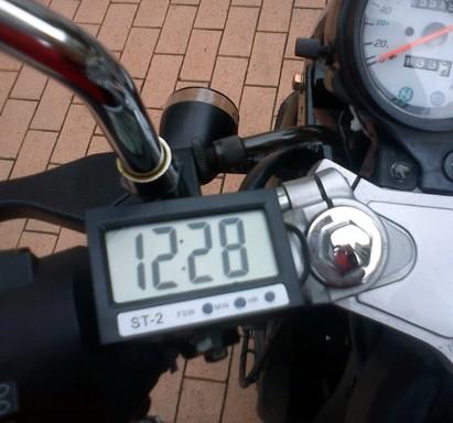 Reloj digital termometro para moto coche clock thermometer - Termometro interior exterior ...