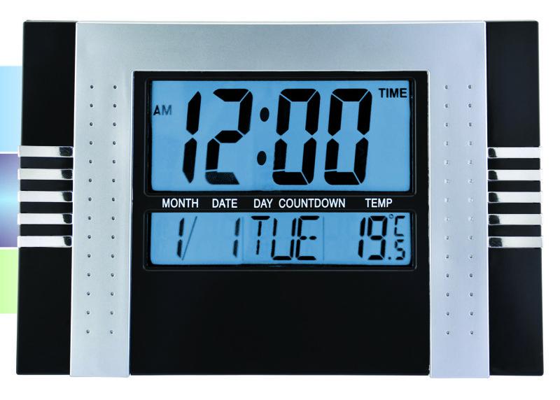 Reloj digital de cocina y oficina numeros grandes - Relojes grandes de pared ...